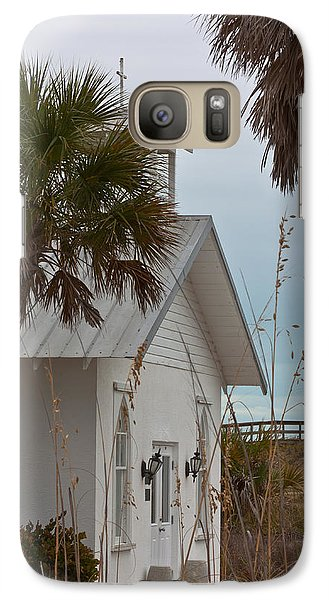 Galaxy Case featuring the photograph Gasparilla Island State Park Chapel by Ed Gleichman