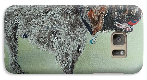 Galaxy Case featuring the painting Gaston The Griffon by Betty-Anne McDonald
