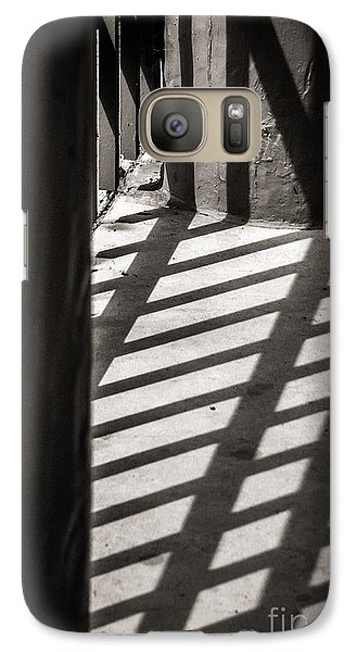 Galaxy Case featuring the photograph Gate Shadows II by Sherry Davis
