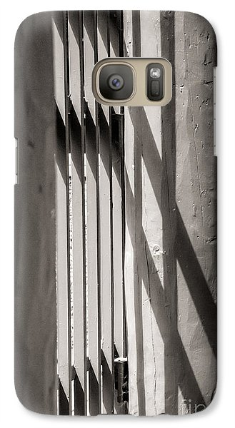 Galaxy Case featuring the photograph Gated Shadows by Sherry Davis