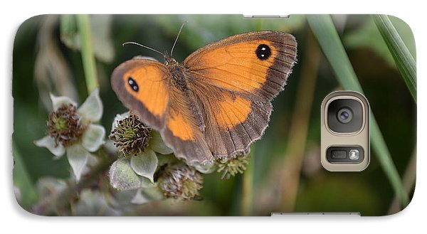 Galaxy Case featuring the photograph Gatekeeper Butteryfly by Scott Lyons