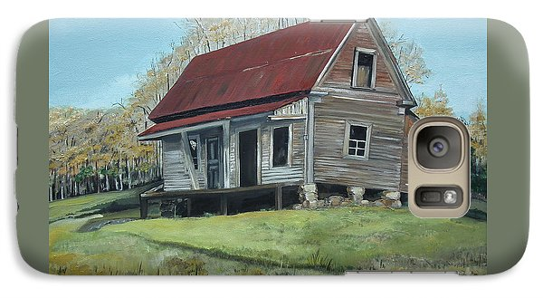 Galaxy Case featuring the painting Gates Chapel - Ellijay Ga - Old Homestead by Jan Dappen