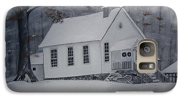 Galaxy Case featuring the painting Gates Chapel - Ellijay - Signed By Artist by Jan Dappen
