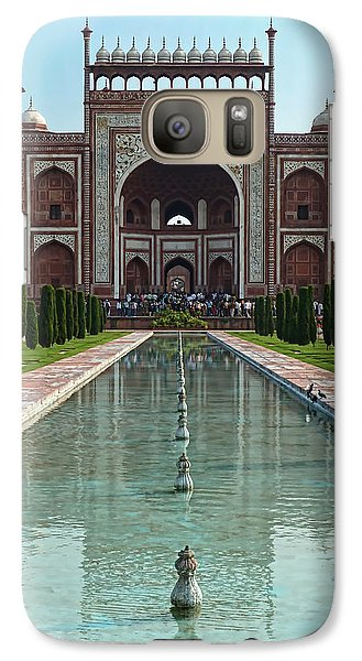 Galaxy Case featuring the photograph Gateway To The Taj Mahal by Kim Andelkovic
