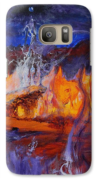 Galaxy Case featuring the painting Gathering At Samhain's Bluff by Christophe Ennis