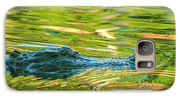 Galaxy Case featuring the photograph Gator In Pond by Patricia Schaefer
