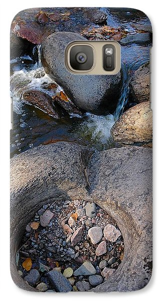 Galaxy Case featuring the photograph Gauthier Creek Point Of Interest by Sandra Updyke