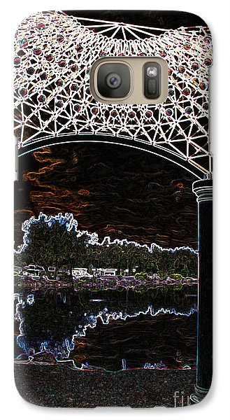 Galaxy Case featuring the photograph Gazebo 2 by Minnie Lippiatt
