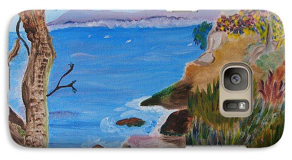 Galaxy Case featuring the painting Gazing Out To Sea by Meryl Goudey