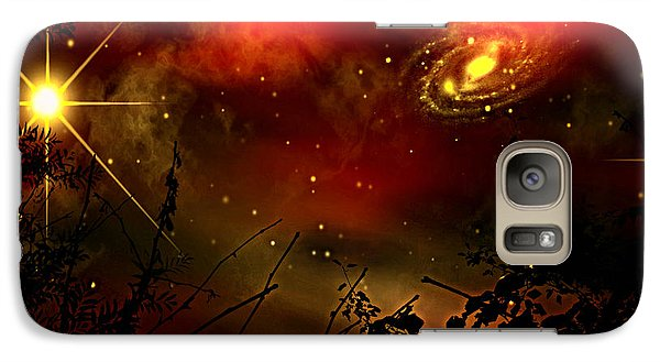 Galaxy Case featuring the painting Gazing The Galaxy by Persephone Artworks