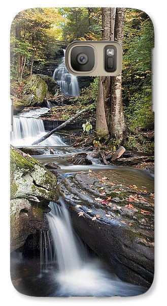 Galaxy Case featuring the photograph Gazing Up At Ozone Falls In Autumn by Gene Walls