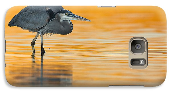 Galaxy Case featuring the photograph Gbh In Orange Water by Bryan Keil