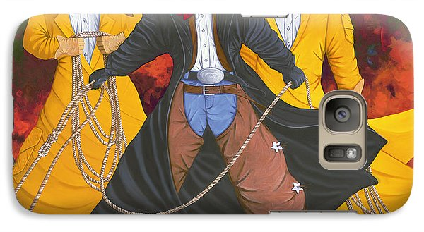 Galaxy Case featuring the painting Good Bad And Ugly by Lance Headlee