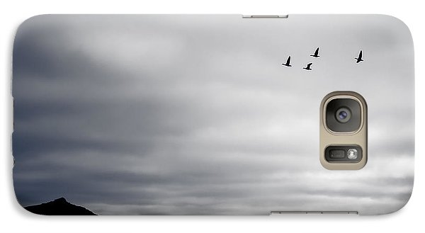 Galaxy Case featuring the photograph Geese Flying South For Winter by Peta Thames