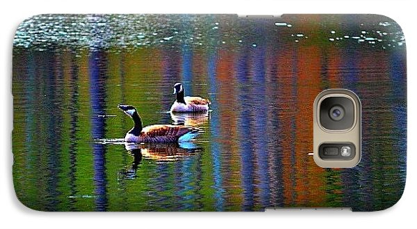 Galaxy Case featuring the photograph Geese On The Lake by Tara Potts