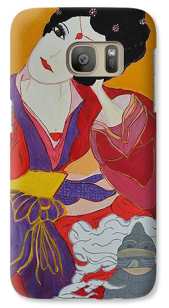 Galaxy Case featuring the painting Geisha 2 by Judi Goodwin