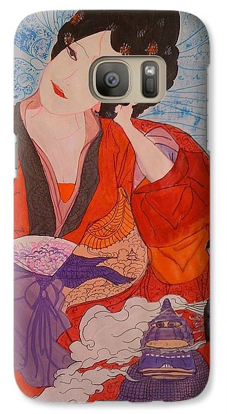 Galaxy Case featuring the painting Geisha Girl by Judi Goodwin