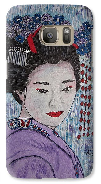 Galaxy Case featuring the painting Geisha Girl by Kathy Marrs Chandler