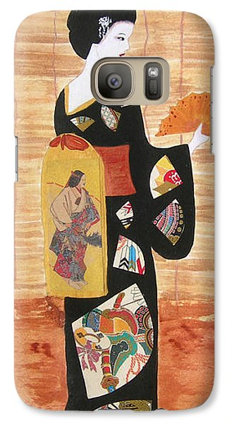 Galaxy Case featuring the painting Geisha by Mini Arora