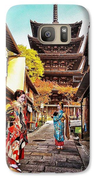 Galaxy Case featuring the photograph Geisha Temple by John Swartz