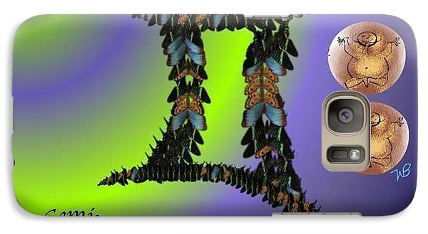 Galaxy Case featuring the digital art Gemini by The Art of Alice Terrill