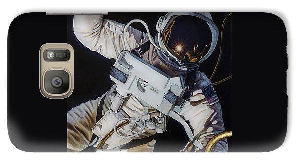 Astronaut Galaxy S7 Case - Gemini Iv- Ed White by Simon Kregar