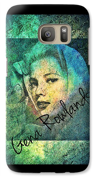 Galaxy Case featuring the digital art Gena Rowlands by Absinthe Art By Michelle LeAnn Scott