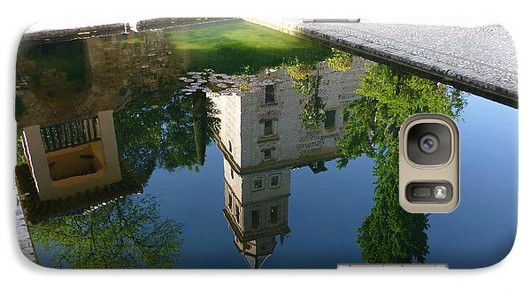 Galaxy Case featuring the photograph Generalife Pool At The Alhambra by Susan Alvaro