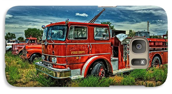 Galaxy Case featuring the photograph Generations Of Fire Fighting Equipment by Ken Smith