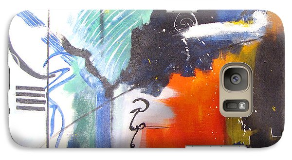 Galaxy Case featuring the painting Genesis 1 Vs. 2 God by Gary Smith
