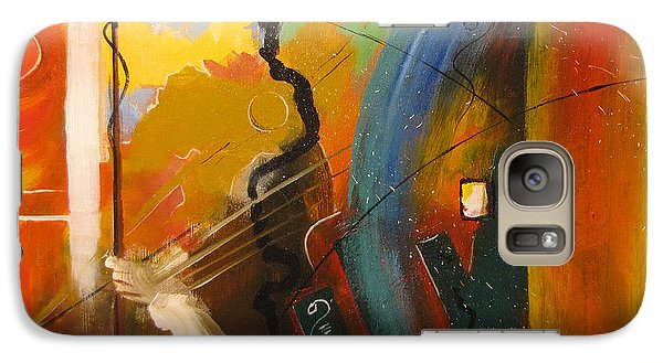 Galaxy Case featuring the painting Genesis 1 Vs 3 Let There Be Light by Gary Smith