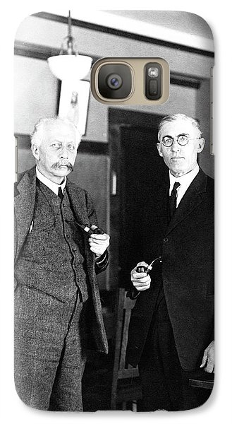 Geneticists Bateson And Emerson Galaxy S7 Case by American Philosophical Society