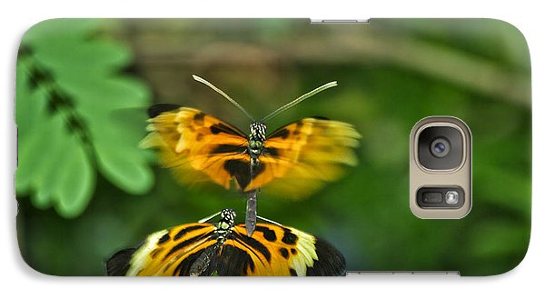 Galaxy Case featuring the photograph Gentle Butterfly Courtship 03 by Thomas Woolworth