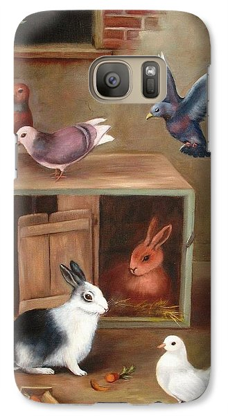Galaxy Case featuring the painting Gentle Creatures by Hazel Holland