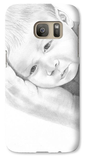 Galaxy Case featuring the drawing Gentle Innocence by Patricia Hiltz
