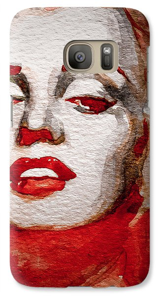 Galaxy Case featuring the painting Gentlemens Prefer Blondes by Laur Iduc