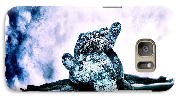 Galaxy Case featuring the photograph Gently Off The Edge by Heather King