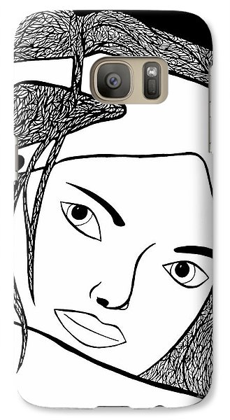 Galaxy Case featuring the drawing Genuine by Jamie Lynn