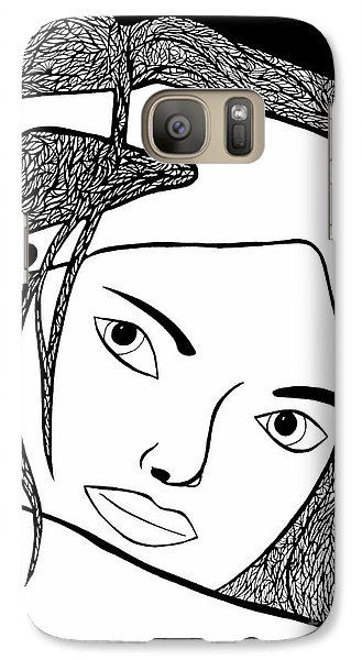 Galaxy Case featuring the drawing Genuine Scars by Jamie Lynn