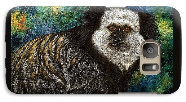 Galaxy Case featuring the drawing Geoffrey's Marmoset by Sandra LaFaut