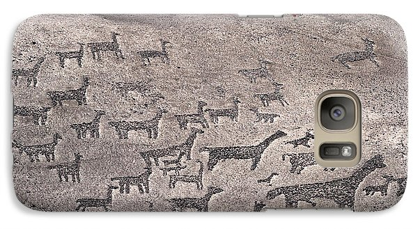 Geoglyphs At Tiliviche Chile Galaxy S7 Case by James Brunker