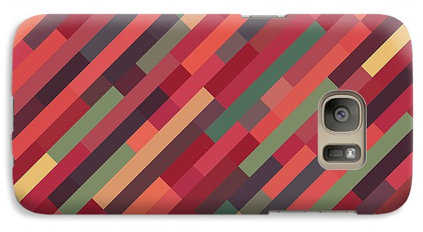 Galaxy Case featuring the digital art Geometric Block by Mike Taylor