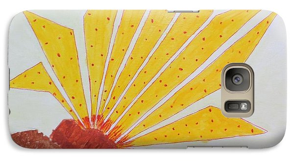 Galaxy Case featuring the painting Geometric Blooming Lotus by Sonali Gangane