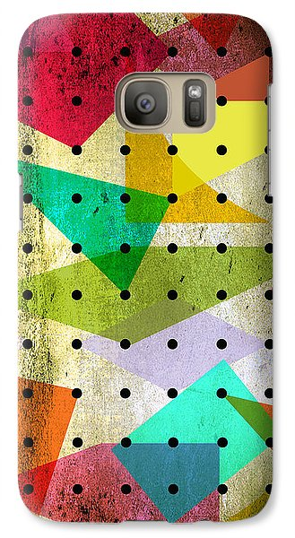 Geometric In Colors  Galaxy S7 Case by Mark Ashkenazi