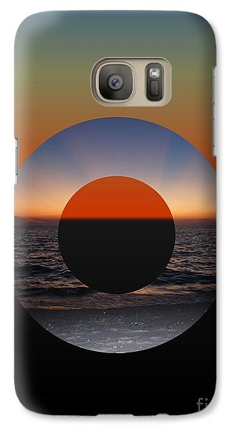 Galaxy Case featuring the photograph Geometric Sunset- Circle by Darla Wood