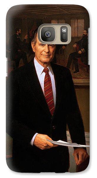 George Hw Bush Presidential Portrait Galaxy Case by War Is Hell Store