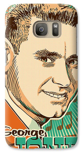 George Jones Pop Art Galaxy S7 Case by Jim Zahniser