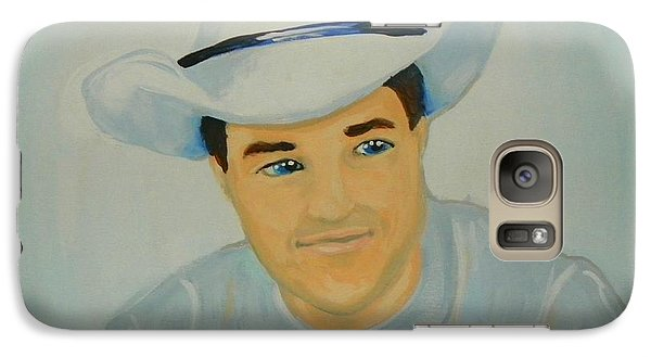 Galaxy Case featuring the painting George by Marisela Mungia