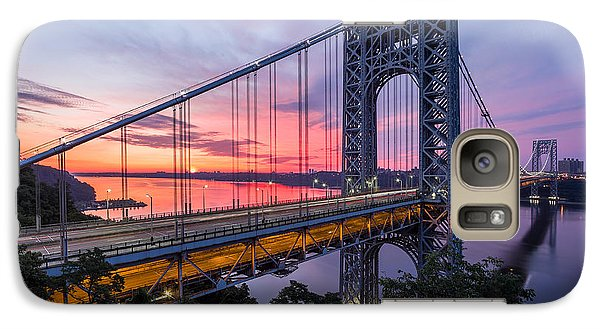 Galaxy Case featuring the photograph George Washington Bridge by Mihai Andritoiu