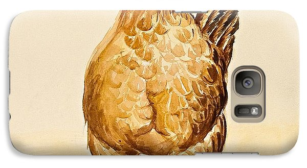 George's Hen And Her Chicks Galaxy S7 Case by Alison Cooper